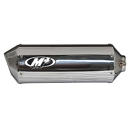 M4 Standard Slip-On Exhaust - Polished With Titanium Mid Pipe - Two Brothers Racing M-2 Short 10