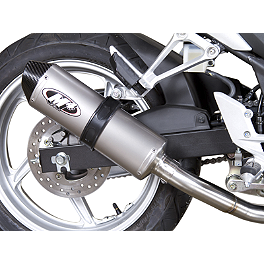 M4 Standard Slip-On Exhaust - Titanium - 2012 Honda CBR250ABS M4 Standard Full System Exhaust - Polished