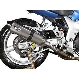 M4 Standard Slip-On Exhaust - Titanium - 2001 Suzuki SV650S M4 Standard Full System Exhaust - Polished