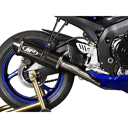 M4 Standard Titanium Full System Exhaust - Carbon - 2009 Suzuki GSX-R 600 M4 GP Series Slip-On Exhaust - Black