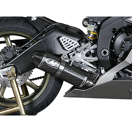 M4 Standard Titanium Full System Exhaust - Carbon - 2008 Yamaha YZF - R6 M4 GP Series Slip-On Exhaust - Black