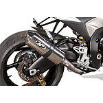M4 Standard Titanium Full System Exhaust - Polished Single - M4 Performance Exhaust Motorcycle Parts