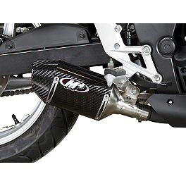 M4 Street Slayer Slip-On Exhaust - Carbon - 2012 Honda CBR250ABS M4 Standard Full System Exhaust - Polished