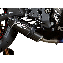 M4 Street Slayer Slip-On Exhaust - Carbon - 2013 Kawasaki ZX1000 - Ninja ZX-10R ABS M4 GP Series Slip-On Exhaust - Black