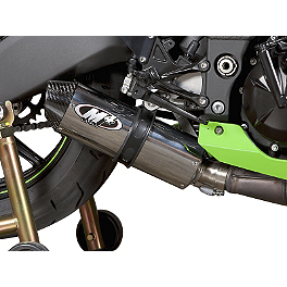 M4 Street Slayer Slip-On Exhaust - Polished - 2011 Kawasaki ZX1000 - Ninja ZX-10R ABS M4 GP Series Slip-On Exhaust - Black