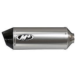 M4 Street Slayer Slip-On Exhaust - Titanium - 2009 Kawasaki ZX1000 - Ninja ZX-10R M4 GP Series Slip-On Exhaust - Black