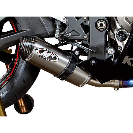 M4 Street Slayer Slip-On Exhaust - Titanium - Main