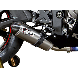 M4 Street Slayer Slip-On Exhaust - Titanium - 2013 Kawasaki ZX1000 - Ninja ZX-10R M4 GP Series Slip-On Exhaust - Black