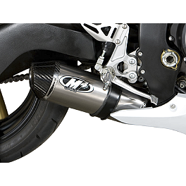 M4 Street Slayer Slip-On Exhaust - Titanium Single - Vortex CAT5 Rear Sprocket