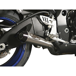 M4 Standard Full System Exhaust - Titanium With Titanium Mid Pipe - 2007 Suzuki GSX-R 600 M4 GP Series Slip-On Exhaust - Black