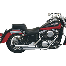 MAC Performance Slash-Cut Staggered 2-Into-2 Exhaust System - 2003 Kawasaki Vulcan 800 - VN800A MAC Performance Fat Stakkers 2-1/4