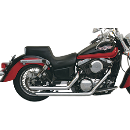 "MAC Performance 2-1/4"" Slash-Back Staggered Drag Pipes - 2008 Yamaha V Star 650 Custom - XVS65 Cobra Drag Pipe Exhaust"
