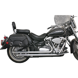 "MAC Performance 2"" Slash-Cut Drag Pipes - 2003 Kawasaki Vulcan 800 - VN800A MAC Performance Fat Stakkers 2-1/4"