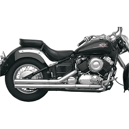 "MAC Performance Fat Stakkers 2-1/4"" Exhaust System - 2008 Yamaha V Star 650 Custom - XVS65 Cobra Drag Pipe Exhaust"