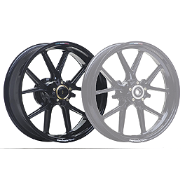 Marchesini Magnesium M10R Corse SBK Rear Wheel - Gloss Black - 2009 Ducati Monster 1100S Marchesini Forged Aluminum Kompe Front Wheel