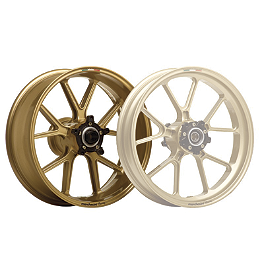 Marchesini Magnesium M10R Corse SBK Rear Wheel - Gold - 2009 Ducati Monster 1100S Marchesini Forged Magnesium SBK Front Wheel