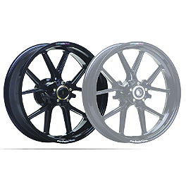 Marchesini Magnesium M10R Corse SBK Rear Wheel - Gloss Black - Akrapovic Slip-On Exhaust - Titanium