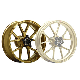 "Marchesini Magnesium M10R Corse SBK 6"" Wide Rear Wheel - Gold - 2004 Ducati 749 Marchesini Forged Magnesium SBK Front/Rear Wheel Combo With Sprocket Carrier"