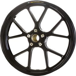 Marchesini Forged Aluminum Kompe Rear Wheel - 2010 Kawasaki ZX1400 - Ninja ZX-14 Marchesini Forged Magnesium SBK Front/Rear Wheel Combo With Sprocket Carrier