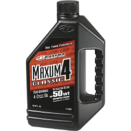 Maxima Maxum 4 Classic V-Twin Formula Engine Oil - BikeMaster Tube 5.00/5.10-16 16mm Offset Rubber Stem