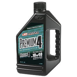 Maxima 10W40 Premium 4-Stroke Engine Oil - 1 Liter - 2012 Yamaha GRIZZLY 350 4X4 IRS Vesrah Racing Oil Filter