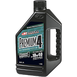 Maxima Premium 4-Stroke 10W40 Engine Oil - 1 Gallon - 1987 Yamaha Virago 535 - XV535 Vesrah Racing Semi-Metallic Brake Shoes - Rear
