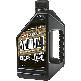 Maxima Semi Synthetic 4-Stroke 10W40 Engine Oil - 1 Gallon - 2009 Yamaha RHINO 700 BikeMaster Oil Filter - Chrome