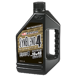 Maxima 10W40 Semi Synthetic 4-Stroke Engine Oil - 1 Liter - K&N Spin-on Oil Filter - Chrome