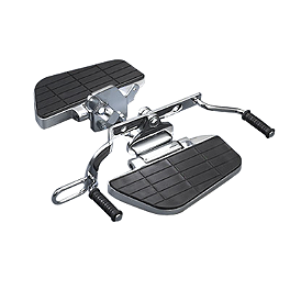 MC Enterprises Floorboards With Heel Toe Shifter - 2007 Honda VTX1800F3 Cobra Front Floorboards Swept - Chrome