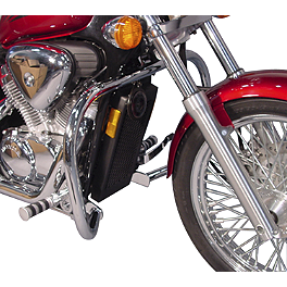 MC Enterprises Full Engine Guard - 1995 Honda Shadow VLX - VT600C Show Chrome Comfort Brake Pedal Cover