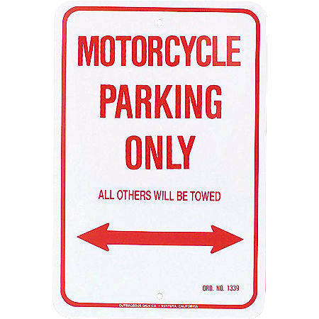 MC Enterprises Parking Sign - Motorcycle - Main