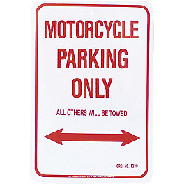 MC Enterprises Parking Sign - Motorcycle - Pit Bull Metal Sign