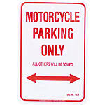 MC Enterprises Parking Sign - Motorcycle - Dirt Bike Collectibles