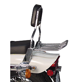 MC Enterprises Sissy Bar - Standard - 2004 Honda Shadow VLX - VT600C Honda Genuine Accessories Chrome Backrest Kit