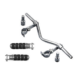 MC Enterprises Universal Hi-Way Bars - Alligator Pegs - MC Enterprises Floorboards With Heel Toe Shifter