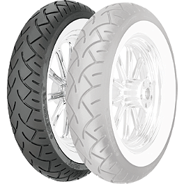 Metzeler ME880 Front Tire - MT90-16B 72H Narrow Whitewall - Metzeler ME880 Rear Tire - 140/90-16 77H Wide Whitewall