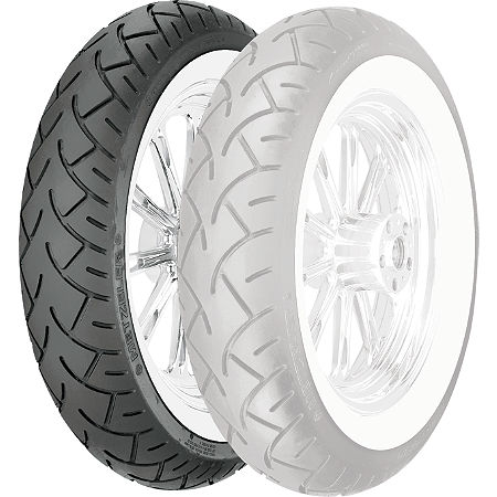 Metzeler ME880 Front Tire - MT90-16B 72H Wide Whitewall - Main