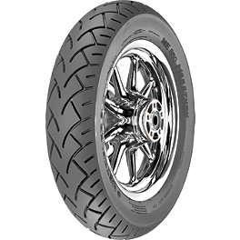 Metzeler ME880 Marathon Rear Tire - 150/80-15VB 70V Tl - Willie & Max Showstopper Clutch Cover Insert