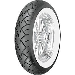 Metzeler ME880 Rear Tire - 150/80-16HB 71H Wide Whitewall - Bell Custom 500 Cobra Helmet
