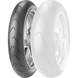 Metzeler Racetec Interact Front Tire - 120/70ZR17 K1 - Hotbodies Racing Rear Tire Hugger - Candy Burnt Orange