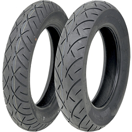 Metzeler Triple Eight Tire Combo - Metzeler ME880 Front Tire - MT90-16B 72H Narrow Whitewall
