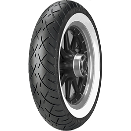 Metzeler Triple Eight Front Tire - 130/90-16 73H Wide Whitewall - Metzeler Triple Eight Rear Tire - MU85-16