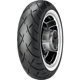 Metzeler Triple Eight Rear Tire - 170/80-15 Wide Whitewall - Metzeler Lasertec Front Tire - 110/80-18H