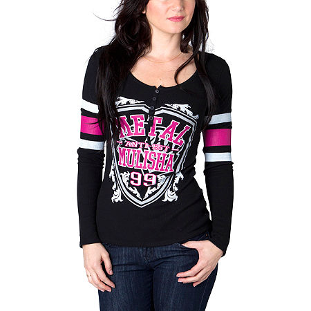 Metal Mulisha Women's Kendra Football Long Sleeve T-Shirt - Main