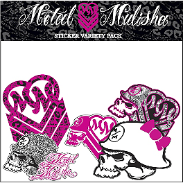 Metal Mulisha Maiden Variety Sticker Pack - Metal Mulisha 6 Piece Sticker Variety Kit