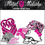 Metal Mulisha Maiden Variety Sticker Pack - Dirt Bike Body Parts and Accessories