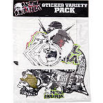 Metal Mulisha 6 Piece Sticker Variety Kit 2 - Motorcycle Graphic Kits and Decals