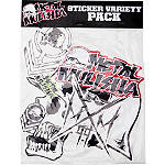 Metal Mulisha 6 Piece Sticker Variety Kit 3 - Motorcycle Graphic Kits and Decals
