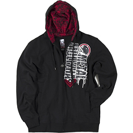 Metal Mulisha Arch Fleece Hoody - 2013 Fox V4 Rockstar Helmet