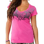Metal Mulisha Women's Unbreakable V-Neck T-Shirt - Dirt Bike Womens Casual
